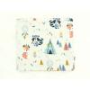 Dětský jarní podzimní nákrčník zvířátka a teepee světlé detail1