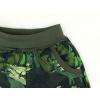 Dětské softshellové kalhoty dinosauři zelené detail kapsy