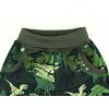 Dětské softshellové kalhoty dinosauři zelené detail pasu