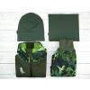 Kombinace softshellová bunda kalhoty čepice nákrčník