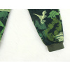 Dětské softshellové kalhoty dinosauři zelené detail nohavice
