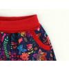 Dětské softshellové kalhoty ptáčci tmavé detail kapsy