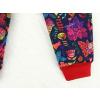 Dětské softshellové kalhoty ptáčci tmavé detail nohavice