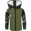 Dětská softshellová bunda dino zelená detail rukávu
