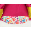 Dětská softshellová bunda ptáčci na růžové detail zadního dílu2