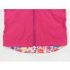 Dětská softshellová bunda ptáčci na růžové detail zadního dílu