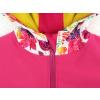 Dětská softshellová bunda ptáčci na růžové detail garáže na zip