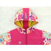 Dětská softshellová bunda ptáčci na růžové detail kapuce kopie