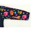 Dětská softshellová bunda zvířátka detail rukávu