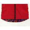 Dětská softshellová bunda ptáčci červená detail zadního dílu1