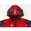 Dětská softshellová bunda ptáčci červená detail kapuce
