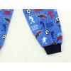 Dětské pyžamo fotbal na modré detail nohavice