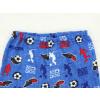 Dětské pyžamo fotbal na modré detail pasu
