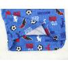 Dětské pyžamo fotbal na modré detail zadního dílu2