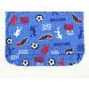Dětské pyžamo fotbal na modré detail zadního dílu