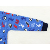 Dětské pyžamo fotbal na modré detail rukávu