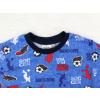 Dětské pyžamo fotbal na modré detail krku