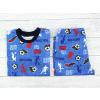 Dětské pyžamo fotbal na modré detail