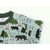 Dívčí triko s krátkým rukávem les detail rukávu