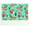 Dětské triko s krátkým rukávem lišky na zelené detail2
