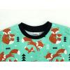 Dětské triko s krátkým rukávem lišky na zelené detail krku