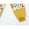 Dětské tepláky s dvojitými koleny Lišky na louce detail nohavice
