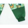 Dětské tepláky s vysokým pasem lesní zvířátka detail nohavice2