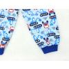 Dětské pyžamo bagry na stavbě modré detail nohavice kopie