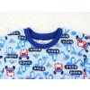 Dětské pyžamo bagry na stavbě modré detail krku kopie