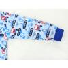 Dětské pyžamo bagry na stavbě modré detail rukávu