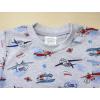 Dětské letní pyžamo s letadly - detail krku