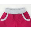 Dětské vínové letní softshellové kalhoty detail pasu