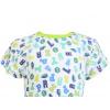 Dětské letní pyžamo s písmenky - detail krku