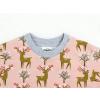 Dětské triko s krátkým rukávem jelínci detail krku