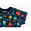 Dětské triko s krátkým rukávem roboti detail rukávu