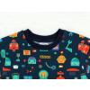 Dětské triko s krátkým rukávem roboti detail krku kopie