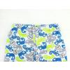 Dětské pyžamo s krátkým rukávem chameleoni modro zelené detail kraťasy1 kopie