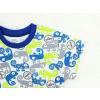 Dětské pyžamo s krátkým rukávem chameleoni modro zelené detail rukávu kopie