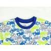 Dětské pyžamo s krátkým rukávem chameleoni modro zelené detail krku kopie