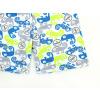 Dětské pyžamo s krátkým rukávem chameleoni modro zelené detail kraťasy2 kopie