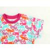 Dětské pyžamo s krátkým rukávem chameleoni modro růžové detail rukávu