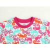 Dětské pyžamo s krátkým rukávem chameleoni modro růžové detail krku
