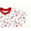 Dětská noční košilka s krátkým rukávem Berušky detail rukávu