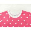 Dětské růžové pyžamo s krátkým rukávem srdíčka a puntíky detail krku kopie