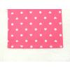 Dětské růžové pyžamo s krátkým rukávem srdíčka a puntíky detail pasu kraťasy kopie