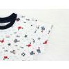 Dětské pyžamo s krátkým rukávem rybičky na bílé detail rukávu