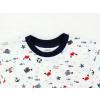 Dětské pyžamo s krátkým rukávem rybičky na bílé detail krku
