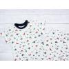 Dětské pyžamo s krátkým rukávem rybičky na bílé detail2