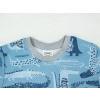 Dětské pyžamo s krátkým rukávem krokodýli detail krku