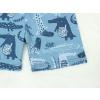 Dětské pyžamo s krátkým rukávem krokodýli detail nohavic kraťasy